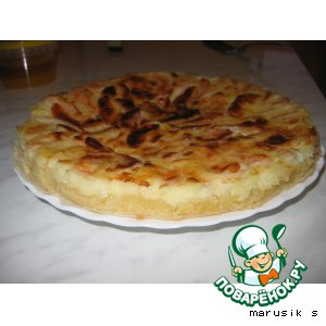 Рецепт Французский флан  с яблоками