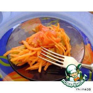 Рецепт Салат из моркови и болгарского перца