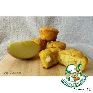Рецепт Маффины с копчeным лососем и яблоком