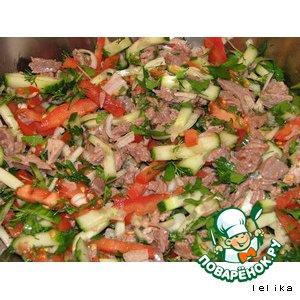 салат охотничий рецепт с мясом