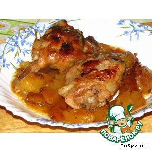 Рецепт Курица с апельсином и розмарином