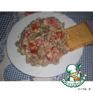 Рецепт Салат из баклажанов с крекером