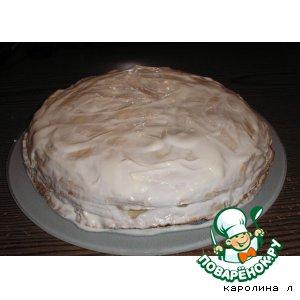 Рецепт Сырно-блинный  пирог