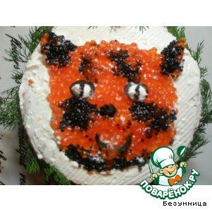 Рецепт Закусочный рыбный торт
