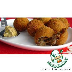 Рецепт Bitterballen - Закусочные крокеты с рагу из телятины
