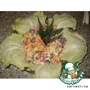 Готовим Салат из фасоли домашний пошаговый рецепт с фото