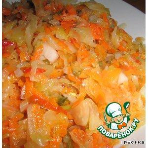 Капуста квашеная с морковью и сладким перцем