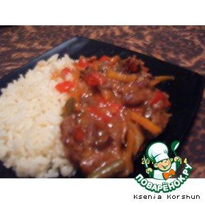 Рецепт Мясо по-китайски в кисло-сладком соусе