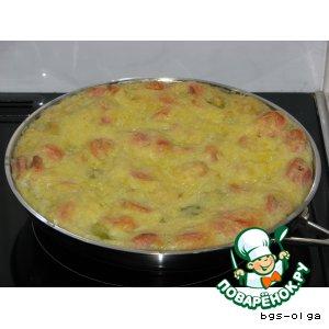 Рецепт Овощная запеканка с сосисками