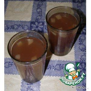 Рецепт Вишнево-яблочный кисель с корицей