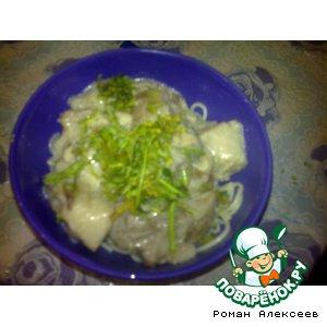 Рецепт Свинина с вешенками