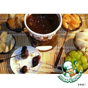 Рецепт: Шоколадное фондю