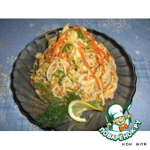 Рецепт Салатик из куриного филе с фунчeзой