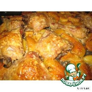 Рецепт Запеченная курочка с картошкой