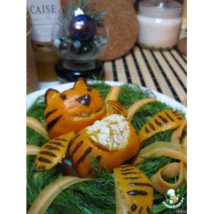 """Рецепт Салат """"Новогодний веночек для тигра"""""""