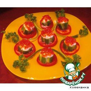 Рецепт Импровизированные тарталетки с красной икрой