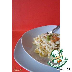 Рецепт Фарфалли с лососем и киви