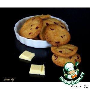 Рецепт Печенье из белого шоколада и сушeной клюквы