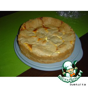 Рецепт Творожный пирог с грушей