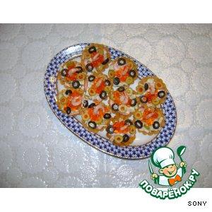 Рецепт Тарталетки с огурцами и креветками