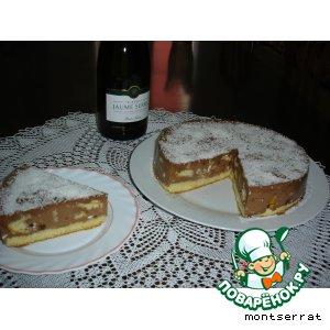 Рецепт Желе шоколадное с бисквитом и орехами