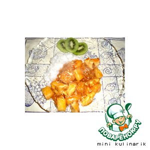 Рецепт Курица с ананасом в кисло-сладком соусе