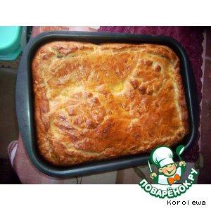 Рецепт Рождественский пирог с семгой