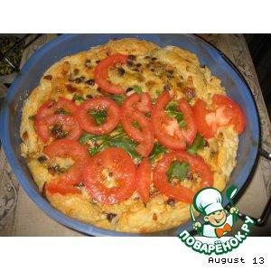 Рецепт Грибной тортик с зеленью и сыром