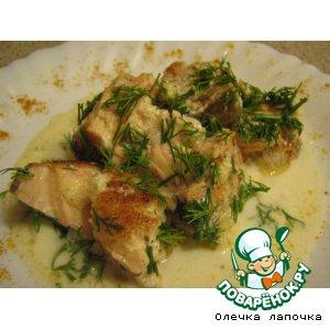 Рецепт Рыба в сметанно-сырном соусе