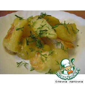 Рецепт: Запеченный картофель с чесноком