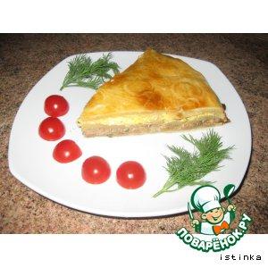 Рецепт Пирог по-сербски с консервированной горбушей