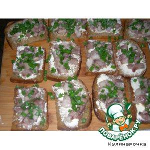 Рецепт Бутерброды под водочку