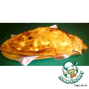 Рецепт Чебуреки с картофелем, фетой и  мясом