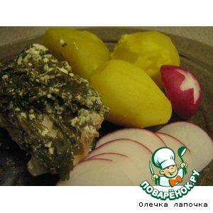 Рецепт Курица, тушенная в сметане с зеленью