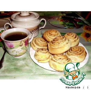 Рецепт Дрожжевые булочки к чаю