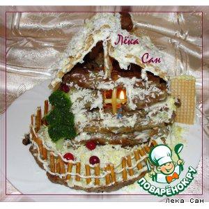 """Рецепт Закусочный торт """"Избушка"""""""