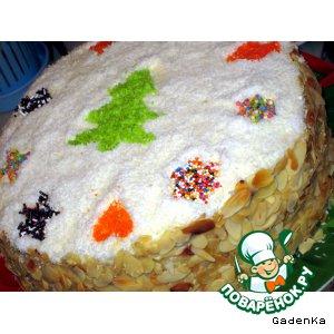 Рецепт Торт слоеный «Именинно-Новогодний»