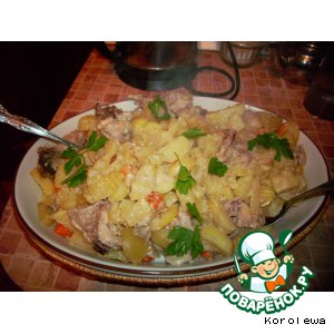 Рецепт Жаркое с курицей в рукаве