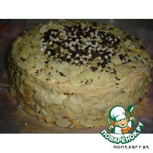 Рецепт Белково-бисквитный торт с мраморным кремом
