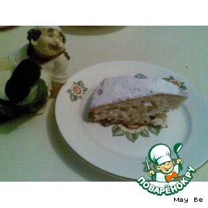 Рецепт Апельсиновый пирог с изюмом