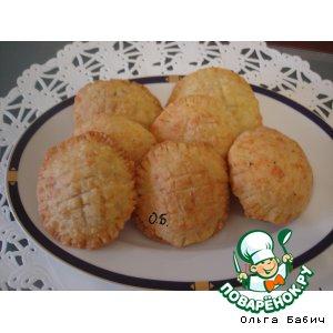 """Рецепт Пирожки из сырного теста """"Подсолнушки"""""""