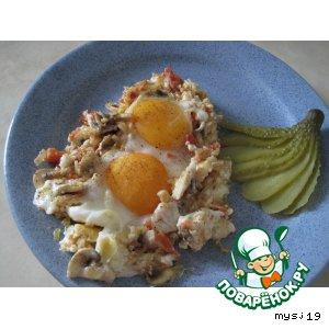 Рецепт Глазунья с грибами