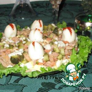 "Рецепт Салат ""Белые лилии"""