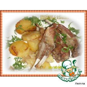 Рецепт Ребрышки с картошкой запеченные в духовке