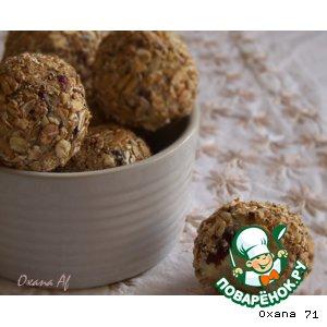 Рецепт Трюфели из белого шоколада, сушeной клюквы и овсяных хлопьев