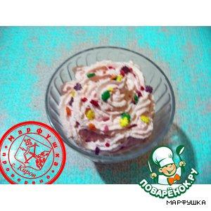 "Рецепт Десерт из мороженого ""Клубничное конфетти"""