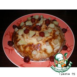 Рецепт Блинный торт с ананасами