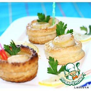 Рецепт Волованы с морским гребешком в апельсиновом соусе