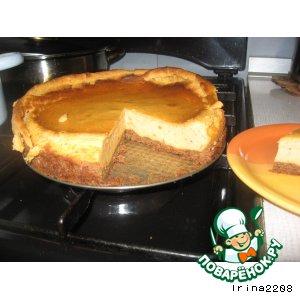 Рецепт Карамельно-шоколадный творожный торт