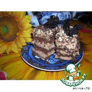 """Рецепт Шоколадные пирожные """"Наслаждение"""""""